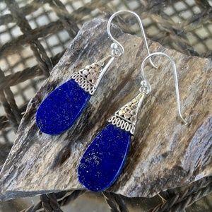 NEW Lapis lazuli sterling silver earrings